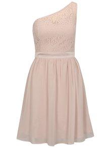 Svetloružové šaty na jedno rameno Dorothy Perkins