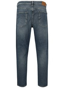Modré rifle so záplatou Selected Homme Cropped