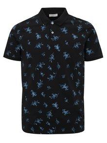 Tmavě modré květované polo tričko Selected Homme Flower