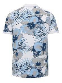 Modro-bílé květované polo tričko Selected Homme Flower