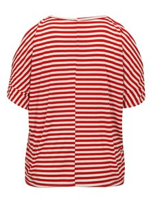 Tricou rosu&alb in dungi cu decupaje pe maneci Dorothy Perkins Curve