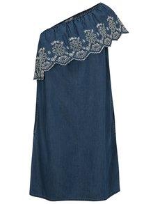 Modré šaty cez jedno rameno Dorothy Perkins