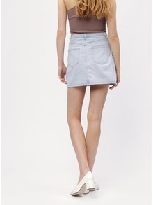 Fusta mini bleu din denim MISSGUIDED