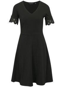 Čierne šaty s krátkym rukávom Dorothy Perkins