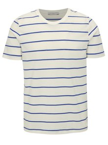 Tricou alb in dungi - Selected Homme The Perfect