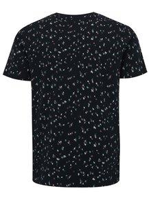 Tmavě modré vzorované tričko Selected Homme Sum