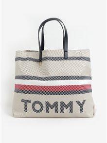 Béžový metalický shopper Tommy Hilfiger