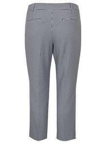 Pantaloni cropped alb&bleumarin cu model pepit Dorothy Perkins Curve