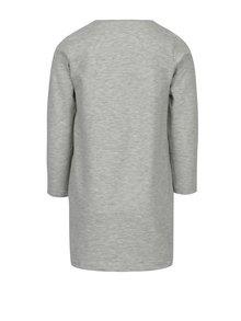 Sivé dievčenské mikinové šaty s potlačou 5.10.15.