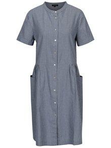 Šedo-modré pruhované šaty Selected Femme Rose