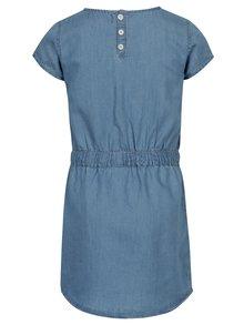 Modré šaty so sťahovaním v páse 5.10.15.