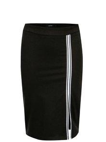 Čierna dievčenská sukňa s pruhmi LIMITED by name it