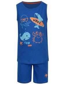 Modré klučičí pyžamo s potiskem 5.10.15.