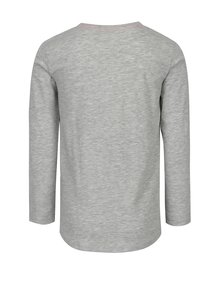 Šedé žíhané holčičí tričko s potiskem 5.10.15.