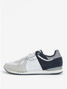 Pantofi sport alb & albastru cu detalii reflectorizante pentru barbati -  Pepe Jeans Tinker