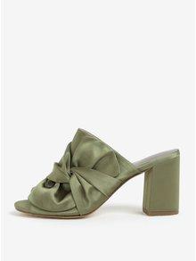 Zelené papuče s mašľou Tamaris