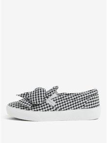Pantofi slip on in carouri cu funda supradimensionata - Pepe Jeans Rene bow