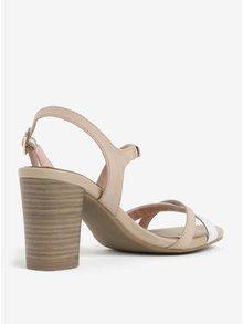 Staroružové kožené sandálky Tamaris