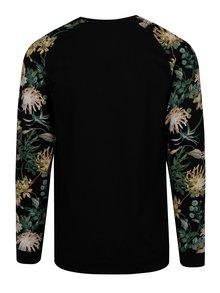 Bluza sport neagra cu maneci raglan si print tropical - ONLY & SONS Kristof