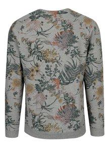 Bluza sport gri cu maneci raglan si print tropical - ONLY & SONS Kristof