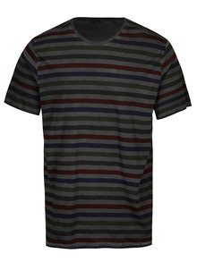 Tricou gri cu dungi albastre din bumbac - ONLY & SONS Sune