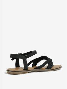 Čierne dámske kožené sandále TOMS