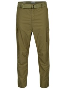 Pantaloni cargo kaki cu o curea in talie - ONLY & SONS Nadir