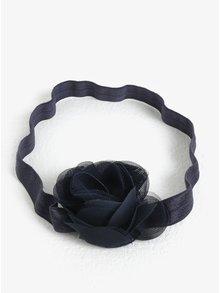 Tmavomodrá dievčenská čelenka s kvetinkou name it Facc-Jonori