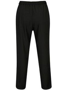 Pantaloni negri cu snur in talie DKNY