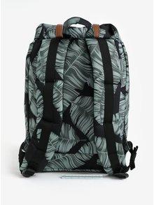 Zeleno-černý batoh s potiskem listů Herschel Retreat 19,5l