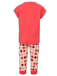 Ružové dievčenské bodkované pyžamo Lego Wear Nevada
