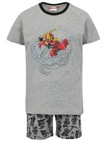 Sivé chlapčenské vzorované pyžamo Lego Wear Nicolai
