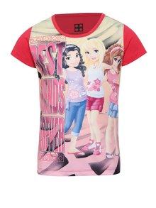 Ružové dievčenské tričko s potlačou Lego Wear