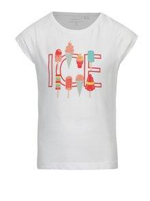 Biele dievčenské tričko s potlačou zmrzliny name it Veen