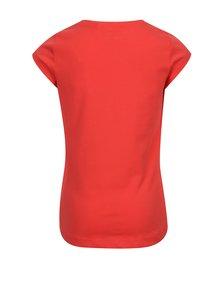 Červené dievčenské tričko s potlačou zmrzliny name it Veen