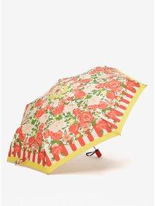 Umbrela pliabila rosu&galben cu print floral Blutsgeschwister