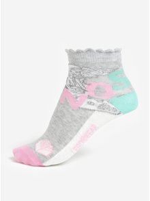 Ružovo-biela súprava troch párov dievčenských vzorovaných ponožiek Lego Wear Agata