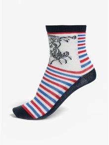Červeno-modrá súprava troch chlapčenských ponožiek Lego Wear Aiden