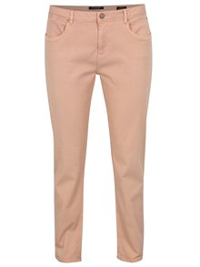 Blugi cropped slim roz cu broderie Scotch & Soda
