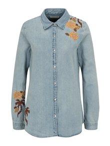 Modrá rifľová košeľa s výšivkou Scotch & Soda