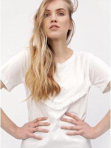 Biele tričko so strapcami VERO MODA Tally