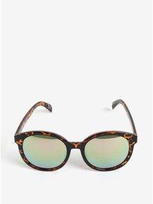Čierno-hnedé dámske vzorované okrúhle slnečné okuliare Jeepers Peepers