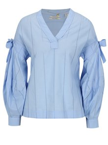 Bluza bleu cu maneci balon si funde - Scotch & Soda
