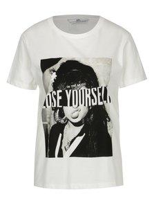 Tricou alb cu print - SH Refente