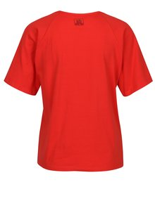 Červené tričko s potlačou a korálkovou výšivkou SH Carniral