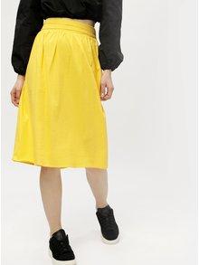 Žltá rebrovaná sukňa VERO MODA Sia