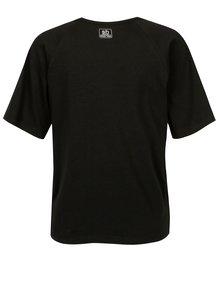 Čierne tričko s potlačou a korálkovou výšivkou SH Carniral