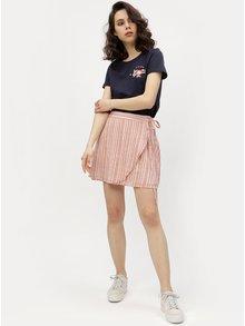 Staroružová zavinovacia pruhovaná sukňa VERO MODA Summer