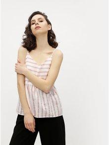 Bielo–ružové pruhované tielko VERO MODA Sunny