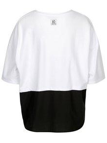 Bílá mikina s krátkým rukávem a košilovou vsadkou SH Barriri